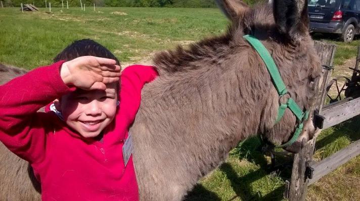 Avec mon ami, l'âne Picotin