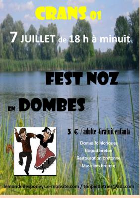 AFFICHE FEST NOZ EN DOMBES 7 juillet 2018