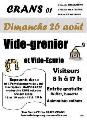 Affiche du Vide-grenier et Vide-écurie